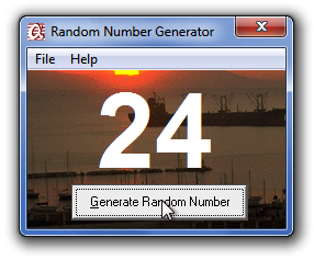 Random Number Generator Screenshot